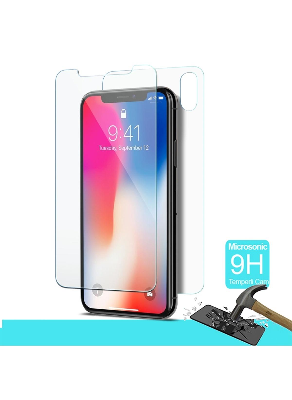 Microsonic Full Body Temperli Cam Ekran Koruyucu İphone X Ön + Arka Full Body Temperli Cam Ekran Koruyucu İp – 46.9 TL